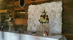 Wedding floral wall back drop