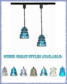 Blue Glass Track Light blue Track Lighting by DivineDiscoveries, $129.00