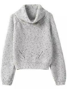 Rolo Marl Neck Sweater Colheita