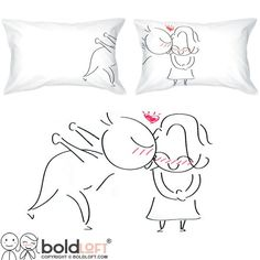 BOLDLOFT A Big Kiss Couple Pillowcases His and Hers Gifts Valentines Day Gifts for Her Girlfriend Gift Wife Gift Matching Couple Gifts Couple Gifts for Him and Her -- Want to know more, click on the affiliate link Amazon.com.