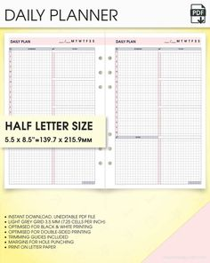undated monthly budget tracker planner inserts for use with personal