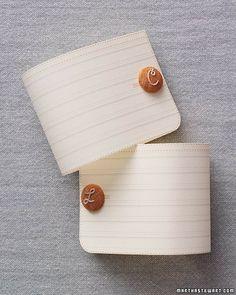 DIY tutorial monogrammed cuff links