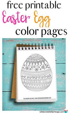 Free printable Easter Egg color pages are perfect for any age. Easter color pages are a fun way to get creative this Spring.