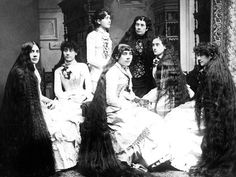 Long Hair Victorian Style: 14 Vintage Photos That Prove Victorian Women Never Cut Their Hair ~ vintage everyday