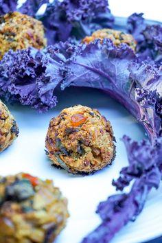 Chickpea veggie balls with carrots, corn and kale | Tera Solara