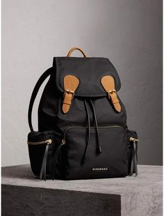 Burberry The Large Rucksack in Technical Nylon and Leather   Burberryhandbags Burberry Handbags 2ee6fa6380f12
