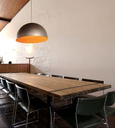 lighting and communal table
