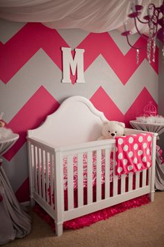Chevron Accent Walls in Kids Rooms 2019 Big Chevron Accent Walls in The post Chevron Accent Walls in Kids Rooms 2019 appeared first on Nursery Diy. Nursery Room, Girl Nursery, Princess Nursery, Nursery Ideas, Room Ideas, Project Nursery, My Baby Girl, Baby Love, Girly Girl