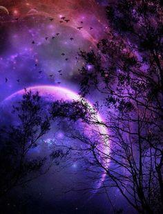 The purple moon Purple Sky, Purple Love, All Things Purple, Shades Of Purple, Purple Stuff, Beautiful Moon, Beautiful Things, Wonderful Things, Moon Magic