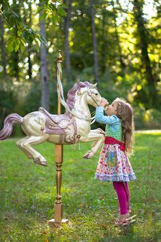 Bri Percha Photography.  Children photography, whimsical, carousel horse.