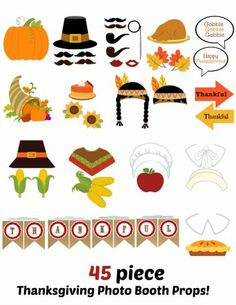 Printable Thanksgiving Photo Booth Props