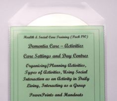 Dementia Care Training Resources Activities and Care Planning Bundle - Training Resource Activity Planning for Dementia Training Resource Reminiscence and Reminiscing during Everyday Tasks Dementia Training, Dementia Activities, Dementia Care, Teacher Resources, Teaching, How To Plan, Level 3, Health, Ebay