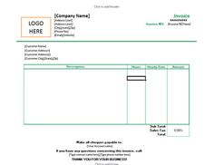 Freelance Excel Invoice Template for Hourly Rates