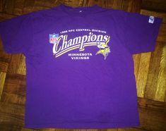 Vintage 1998 Minnesota Vikings T-Shirt jersey randall cunningham adrian  peterson fran tarkenton dante culpepper warren moon nfc champions 53056684d