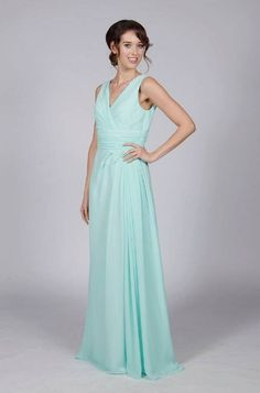 Floor Length Bridesmaid Or Prom Dress With Straps