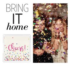 """""""Bring It Home: Personalized Bar Tray"""" by polyvore-editorial ❤ liked on Polyvore featuring interior, interiors, interior design, home, home decor, interior decorating and bringithome"""