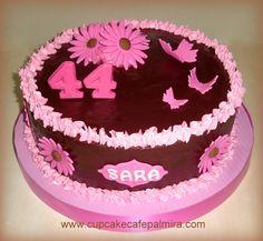 Chocolate and Fucsia cake