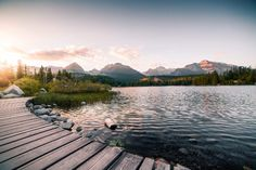 Evening Lake Side in High Tatras Mountains Free Stock Photo Stock Photo Sites, Free Stock Photos, Nature Images, Nature Photos, Alexander Von Humboldt, High Tatras, Wanderlust, Best Sites, Lake Side