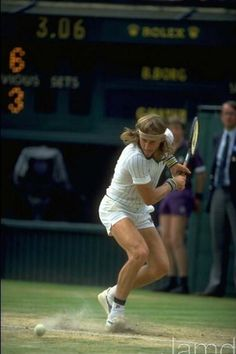 1979 - The great Borg crushing another backhand at Wimbledon... So miss his style of play.