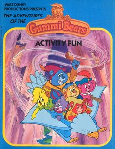 """""""Disney's Adventures of the Gummi Bears"""": Activity Fun (Wanderer Books/Simon and Schuster) Christmas Books, Disney Christmas, Disney Princess Books, Gummi Bears, Disney Colors, Activity Books, Adventures By Disney, Color Activities, Cool Stickers"""