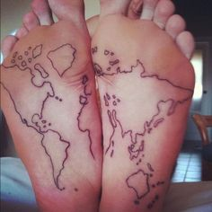 Map of the world because i went all the way around it give to the map tattoo designs 47g 600600 pixels gumiabroncs Choice Image