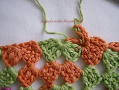 Magia do Crochet: Lenço em crochet para o cabelo - como fazer - base para o xaile em crochet