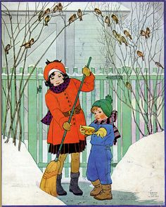 Illustration- 'Vintage Snow Babies' by Miriam Story Hurford (1894- 1988)