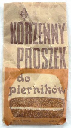 PROSZEK do PIERNIKÓW ___  całe OPAKOWANIE === 1978 Poland Country, Ps, Childhood, Dining Room, Mini, Kitchen, Vintage, Food, Infancy