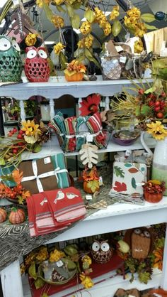 Fall Display-Watertown Autumn Displays, Small Bathroom, Christmas Wreaths, Gift Wrapping, Table Decorations, Holiday Decor, Fall, Shop, Gifts