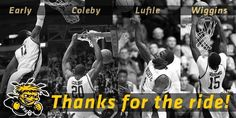Lingafelter State: What a great season for the Shockers! A huge thanks to all our fans for making this a season we'll never forget! Wsu Basketball, Basketball Games For Kids, Wsu Shockers, The Shocker, Shock Treatment, Wichita State, Thankful, Movie Posters, State University