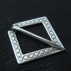 Silver medieval square pin from The Sunken City by DaWanda.com