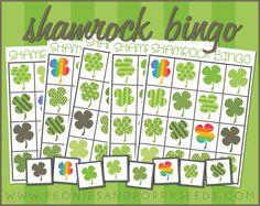 Free Shamrock Bingo