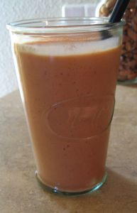 Strawberry Carrot Peach Smoothie