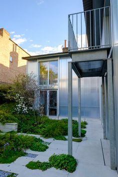 The Yard House — Tom Massey Concrete Paving, Polycarbonate Panels, Courtyard House, Grand Designs, Garden Features, Landscape Photographers, Portfolio Design, Garden Landscaping, Pond