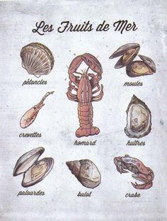 Français: Les fruits de mer