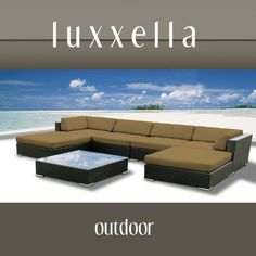 Luxxella Outdoor Patio Wicker MALLINA Sofa Sectional Furniture 7pc All Weather Couch Set DARK BEIGE by Luxxella, http://www.amazon.com/dp/B009GMYDKQ/ref=cm_sw_r_pi_dp_w61trb1THKV6X