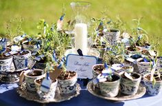greenery as guest gifts