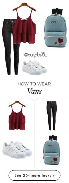 """Untitled #629"" by mariaparedes02 on Polyvore featuring H&M, Vans and adidas Originals"