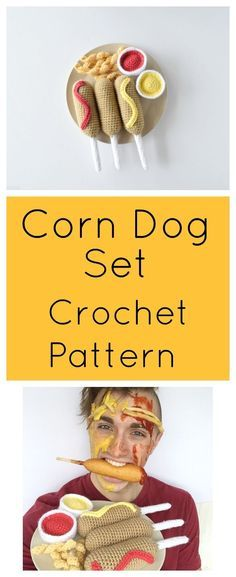 Make your own Corn Dog meal with this free crochet Amigurumi Pattern!