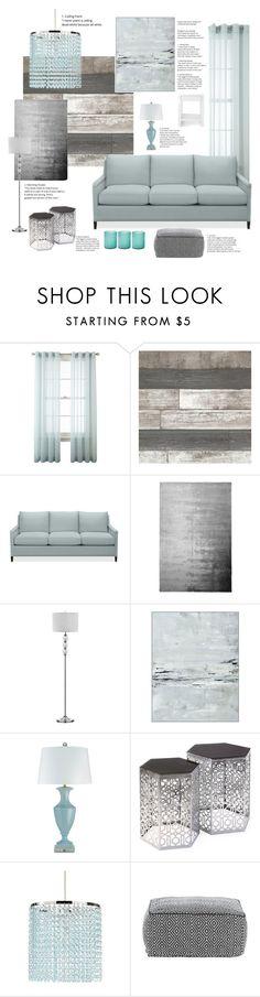 """Aqua Gray Interior"" by stileclassico ❤ liked on Polyvore featuring interior, interiors, interior design, home, home decor, interior decorating, Royal Velvet, Williams-Sonoma, Designers Guild and Pottery Barn"