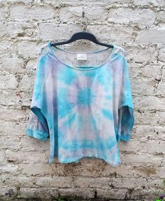 Purple Tie Dye Tshirt to fit UK size 20 or US size 16 Long Sleeve ...