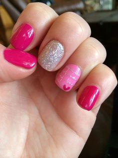 Pink and grey polka dots gel manicure | Nail art | Pinterest | Gel ...