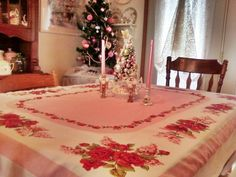 Vintage Tablecloth at Christmas | Flickr - Photo Sharing!