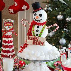 DIY Snowman Centerpiece