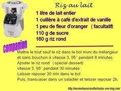 Riz au lait au companion Prep & Cook, Cake Factory, Food And Drink, Cooking, Desserts, Dessert Companion, Pains, Diners, Muffins
