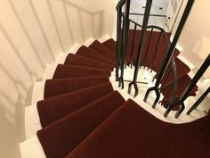 Spiral Staircase, Carpet Runner, Red Carpet, Stairs, Home Decor, Spiral Stair, Stairway, Decoration Home, Room Decor
