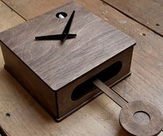Modern Cuckoo Clock - http://tiwib.co/modern-cuckoo-clock/ #LightsClocks