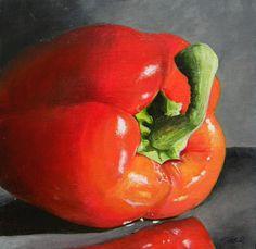 Bell Pepper Mini Painting by Steven Goad - Yankton, South Dakota