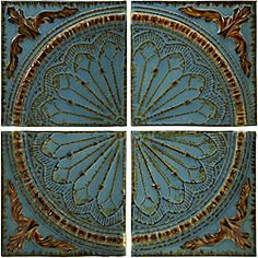 @Overstock.com - Set of 4 Iron Venice Royal Blue Viscounte Medallion Wall Panels - This set of wall panels comes in a Venice style perfect for any room. Handmade of iron with a royal blue Viscounte medallion design, this wall decor will bring that special touch to any area in your home.  http://www.overstock.com/Home-Garden/Set-of-4-Iron-Venice-Royal-Blue-Viscounte-Medallion-Wall-Panels/5179458/product.html?CID=214117 $161.99