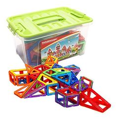 Magmagic Building Block Magnetic Toys, 108 Pcs Stacking Set, Preschool Skills Educational Game Construction Stacking Sets, Deluxe Box Package >>> This is an Amazon Affiliate link. Check out the image by visiting the link.